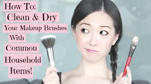 how to wash and dry your makeup brushes
