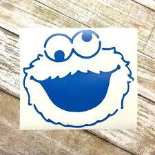 Cookie Monster Vinyl Decal Sesame Street Decal Laptop Decal Etsy