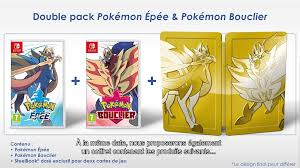 Pokemon Sword And Shield Double Pack To Include Steelbook In ...