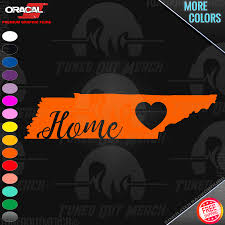 Tennessee Vols Home State Cursive With Heart Ut Car Window Vinyl Decal Sticker Ebay