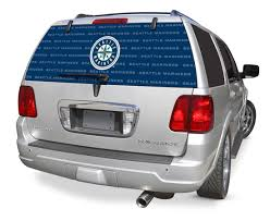 Seattle Mariners Decals Seattle Mariners Window Graphics Mlb Decals Seattle Mariners Mlb Logo Rearz Back Windshield Covering By Glass Tatz