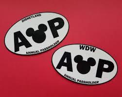 Annual Passholder Bumper Sticker Or Car Magnet Walt Disney Etsy