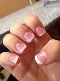 short acrylic nails white tip new