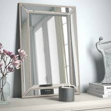 silver beaded mirror wayfair