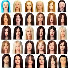 practice head human hair