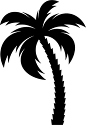 Single Vector Palm Tree Silhouette Sticker