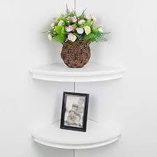 classic radial corner wall shelf