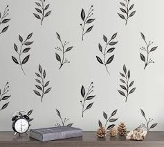 Inked Leaves Wall Decal Pottery Barn