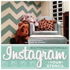 Cutting Edge Stencils Instagram Chevron Stenciled Blue Kids Room Stencil Stories