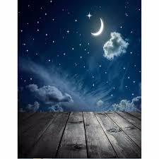 3x5ft الفينيل التصوير خلفية القمر ستار الطفل موضوع الخلفيات