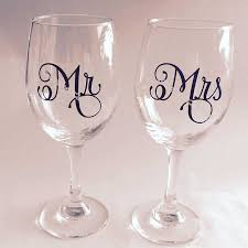 9pcs Mr 9pcs Mrs Set Wine Glasses Sticker Newly Weds Couples Gift Champagne Glass Decal Toasting Wedding Party Decor Eb016 Wall Stickers Aliexpress