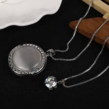 statement necklace silver plated round