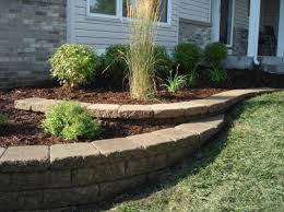 small retaining wall front yard with