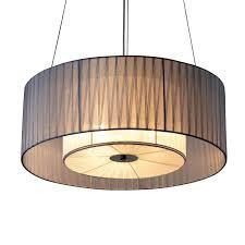lukloy large round silk pendant lights