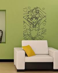 Sailor Moon Kids Room Nursery Wall Vinyl Sticker Decals Art Mural M65 Star Wars Wall Mural Vinyl Wall Sticker Wall Art