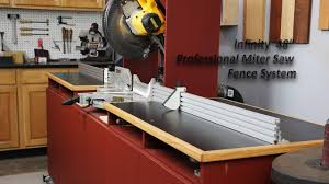 Infinity Tools 48 Professional Miter Saw Fence System Youtube