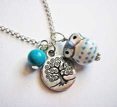 tree of life necklace owl pendant