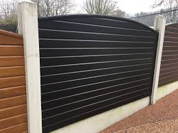 Liniar Decking Fencing On Twitter And New Cool Black Foiled Fence Panels Easily Slot Into Existing Concrete Posts Liniar