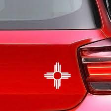 Zia Sun Symbol Vinyl Decal New Mexico Symbol Car Window Etsy Vinyl Decals Window Stickers Spiritual Decals