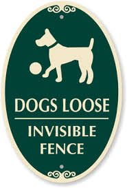 Decorative Dogs Loose Invisible Fence Sign Sku K 9202