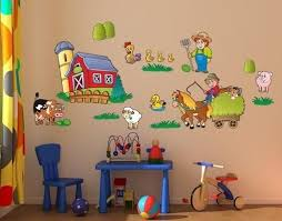 Kids Sticker Farm Wall Decal Set Style And Apply