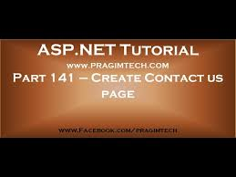 contact us page using asp net and c