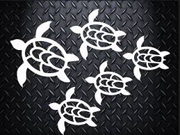 Hawaii Sea Turtle Family Decal 7 Inchescar Decal Laptop Decal Mug Decal Tumbler Decal Cup Decal Phone Decal Family Car Stickers Family Car Decals Cool Car Accessories