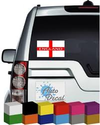 England Flag Vinyl Car Window Bumper Decal Sticker Graphic World Cup Gift For Him Football Supporter Nel 2020