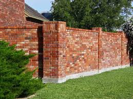 Pin By Nicolase Mallat On Brick Fence Ideas Brick Fence Fence Design Backyard Fences