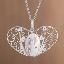 handcrafted sterling silver filigree