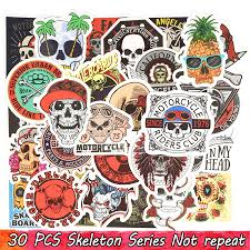 Punk Skull Vinyl Stickers Bomb Horror Doodle Decals Waterproof For Diy Laptop Skateboard Guitar Bicycle Motorbike Decoration Gifts Huge Wall Stickers In This Home Wall Decal From Kg2007 1 52 Dhgate Com