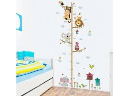 Cute Monkey And Elephant Stickers Kids Height Measure Ruler Decal Nursery Growth Chart Removable Diy Pvc Wall Stickers Murals Newegg Com