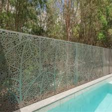 China Customized Laser Cut Screen Panel Aluminium Fencing Steel Railing Pool Fence China Aluminum Fence Laser Cutting Screen