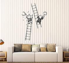 Amazon Com Designtorefine Wall Decal Children Drawing Staircase Painting Kids Room Vinyl Sticker Large Decor Ed1817 Black Home Kitchen