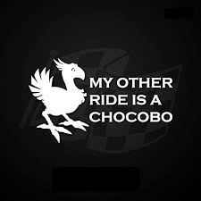Decals Bumper Stickers Color Name My Other Ride Is A Chocobo Funny Gaming Vinyl Decal Window Sticker Car Accessories Motorcycle Helmet Car Styling Cbib Cl