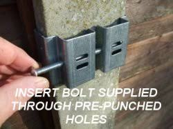 Postfix Slotted Concrete Fence Post Brackets 01268 560680 07973 330172 Clamp Securely To Posts In Seconds No Drilling