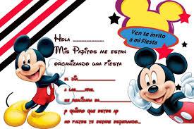 Mickey Invitacion Imprimir 1 Tarjetas Cumpleanos Para Pelaut
