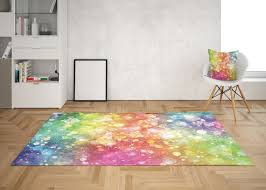 Rainbow Confetti Rug Rainbow Rug Rainbow Rugs Girly Floor Rug Etsy