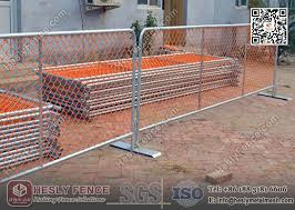 1 1m Height X 2 5m Width Orange Color Pvc Coated Chain Link Tempoary Fencing Panels As4687 2007