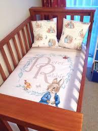 peter rabbit cot quilt and pillows set