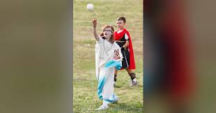 Providence Hall third-graders participate in Greek Olympics