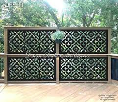 Metal Privacy Screen Fence Decorative Panel Wall Art Etsy In 2020 Backyard Fence Decor Privacy Screen Outdoor Privacy Fence Designs