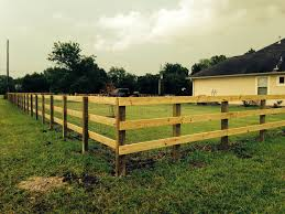 3 Rail Fence With 4x6 Treated Post And 2x6 Treated Rails Backyard Fences Wood Fence Post Wood Fence