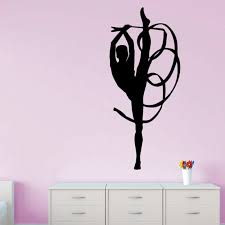 Rhythmic Gymnastics Ribbon Vinyl Wall Stickers For Baby Room Large Mural Removable Wall Decals Living Room For Girls Sticker Wall Art Decals Sticker Wall Art Quotes From Joystickers 11 67 Dhgate Com
