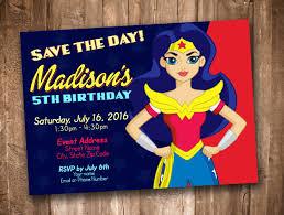 Wonder Woman Invitation Personalized Digital Printable By