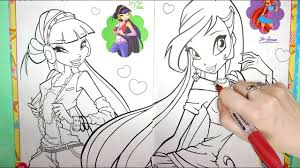 WINX Club Coloring Book Page Winx Club How to Color Coloring ...