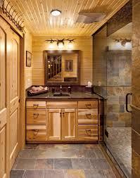 log cabin bath hickory rustic