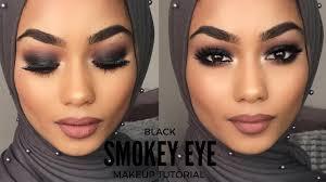 black smokey eye makeup tutorial