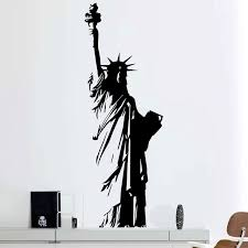 Large Size Vinyl Wall Decal New York Statue Of Liberty Usa Freedom Art Decor Home Sticker Living Room Bedroom E551 Vinyl Wall Decals Home Stickerswall Decals Aliexpress