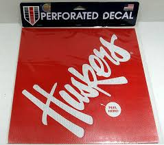 Ncaa Nebraska Huskers 12 X12 Perforated Window Decal Ebay